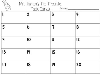 Journeys Mr. Tanen's Tie Trouble Vocabulary and Phonics Task Cards