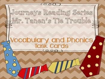 Journeys Mr. Tanen's Tie Trouble Vocabulary and Phonics Ta