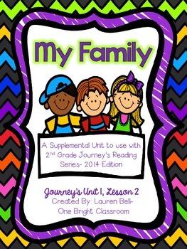 Journeys- My Family Supplemental Unit {Unit 1: Lesson 2}