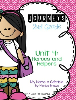 Journeys My Name is Gabriela Grade 2 {Editable}