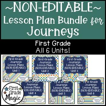 Journeys NON-EDITABLE Lesson Plans First Grade THE BUNDLE!