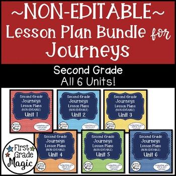 Journeys NON-EDITABLE Lesson Plans Second Grade THE BUNDLE!