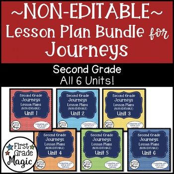 Journeys NON-EDITABLE Lesson Plans Second Grade THE BUNDLE!