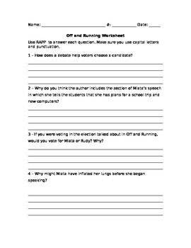 Journeys Off and Running Close Reading Questions