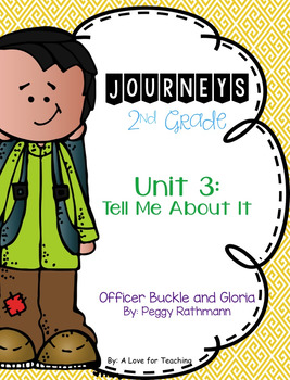 Journeys Officer Buckle and Gloria Grade 2 {Editable}