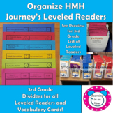 Journey's Lessons: Organization 3rd Grade Dividers for Lev