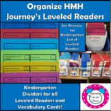 Journey's Lessons Organization: Kindergarten Dividers for