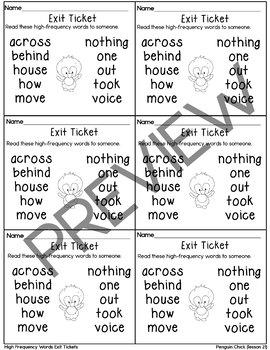 Journeys-Penguin Chick Exit Tickets