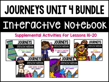 Journeys Print & Go Units with Interactive Pages Unit 4 BUNDLE