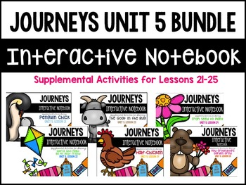 Journeys Print & Go Units with Interactive Pages Unit 5 BUNDLE