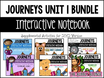 Journeys Print & Go with Interactive Pages Unit 1 BUNDLE