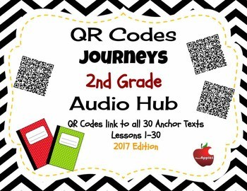 Journeys QR Codes for Anchor Texts 2nd Grade