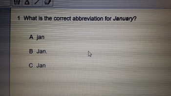 Journeys Abbreviations Quiz on Senteo-1