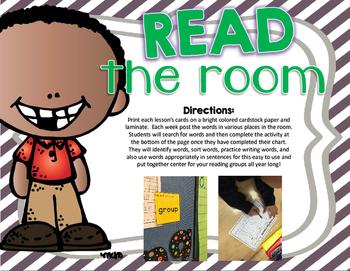 Journeys Read the Room Phonics/Vocabulary Activity
