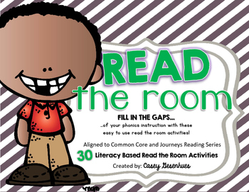 Journeys Read the Room Phonics/Vocabulary Activity