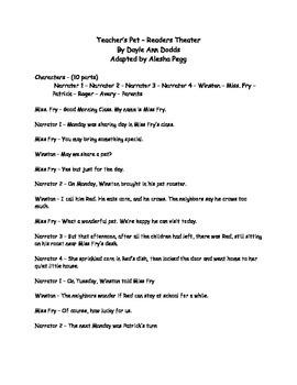 Lesson 5 Journeys Readers Theater - Teacher's Pets