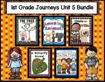 Journeys 1st Grade | Bundle | Unit 5 | Whistle for Willie