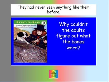 """Journeys 2nd Lesson 27 Jeopardy Review PPT for """"The Dog That Dug for Dinosaurs"""""""
