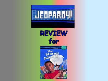 "Journeys 2nd Lesson 22 Jeopardy Review for ""Gloria Who Might be My Best Friend"""