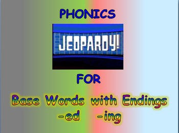 """Journeys 2nd Lesson 09 Jeopardy Phonics PPT for """"How Chipmunk Got His Stripes"""""""