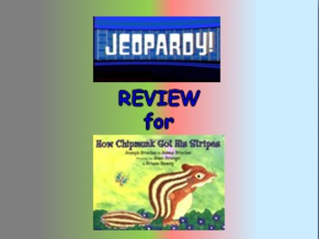 """Journeys 2nd Lesson 09 Jeopardy Review PPT for """"How Chipmunk Got His Stripes"""""""