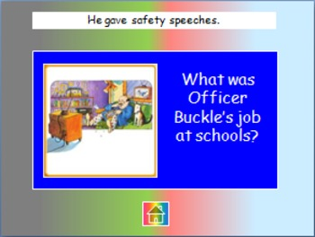 "Journeys 2nd Lesson 15 Jeopardy Review PPT for ""Officer Buckle and Gloria"""