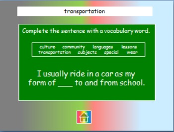 """Journeys 2nd Lesson 13 Jeopardy Review PPT for """"Schools Around the World"""""""