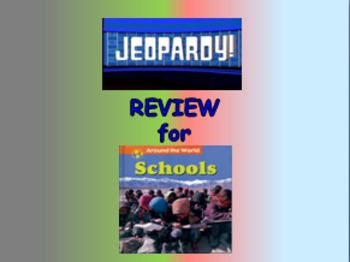 """Journeys 2nd Lesson 13 Jeopardy Review PPT for """"Schools Ar"""