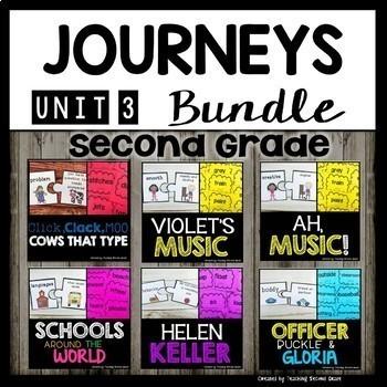 Journeys Second Grade | Unit 3 | Bundle | Click Clack Moo Cows That Type