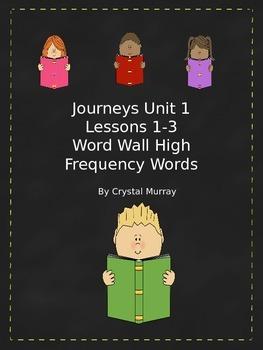 Journeys Reading Common Core HFW Lesson 1-3