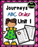 First Grade Journeys Unit 1 ~ ABC Order Cut and Paste