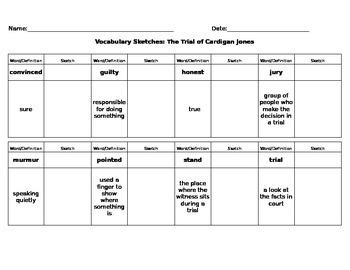 Journeys Reading - Grade 3 - Vocabulary Sketch - Unit 1