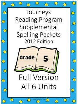 Journeys Reading Program Supplemental Spelling Sheets Gr. 5