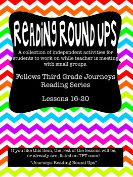 Journeys Reading Round Up Lessons 16-20