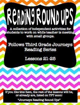 Journeys Reading Round Up Lessons 21-25
