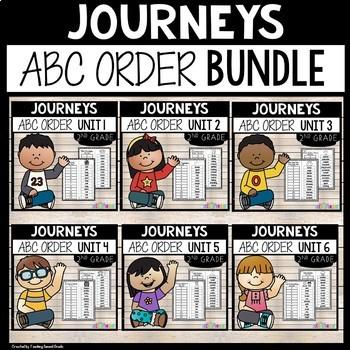 Journeys Second Grade ABC Order BUNDLED All 30 stories Save $4.00