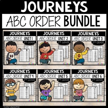 Journeys Reading Second Grade ABC Order BUNDLED All 30 sto
