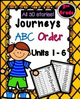 Journeys Second Grade ABC Order BUNDLE