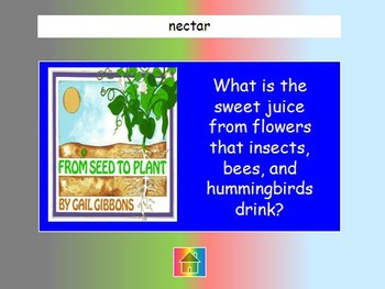 """Journeys 2nd Lesson 25 Jeopardy Review PPT for """"From Seed to Plant"""""""