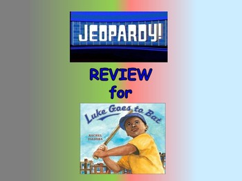 "Journeys 2nd Lesson 17 Jeopardy Review PPT for ""Luke Goes to Bat"""