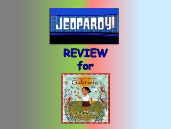 "Journeys 2nd Lesson 18 Jeopardy Review PPT for ""My Name is Gabriela"""