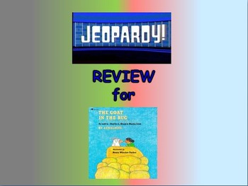 """Journeys 2nd Lesson 23 Jeopardy Review PPT for """"The Goat in the Rug"""""""