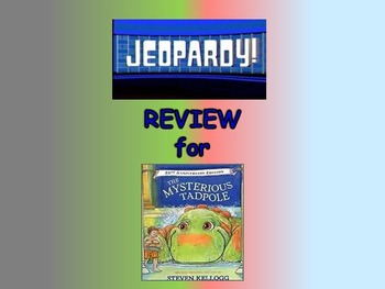 "Journeys 2nd Lesson 26 Jeopardy Review PPT for ""The Mysterious Tadpole"""