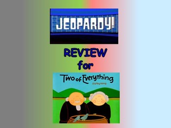 "Journeys 2nd Lesson 29 Jeopardy Review PPT for ""Two of Everything"""
