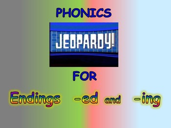 """Journeys 2nd Lesson 16 Jeopardy Phonics PPT for """"Mr. Tanen's Tie Trouble"""""""