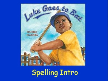 "Journeys 2nd Lesson 17 Spelling Intro PPT for ""Luke Goes to Bat"""