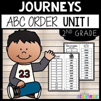 Reading Second Grade Unit 1 ~ ABC Order Cut and Paste