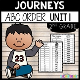 Journeys 2nd Grade Unit 1  ABC Order Cut and Paste | My Family