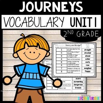 Journeys Reading Second Grade Unit 1 ~ Vocabulary Words Cu