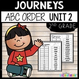 Journeys Second Grade Unit 2 ~ ABC Order Cut and Paste